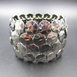 Jewelry - Vintage Bright Silver Tone Expandable Bracelet
